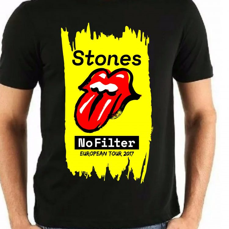 camiseta rolling stones no filter tour